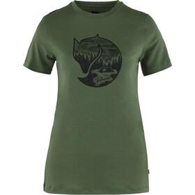 Fjällräven Abisko Fox SS uld top Damer, grøn